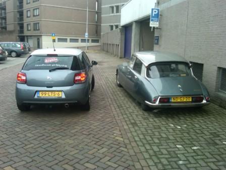 Citroën DS2 en DS3 achter