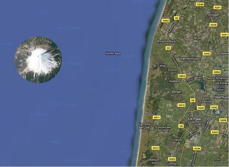 Bergen in Zee - plattegrond